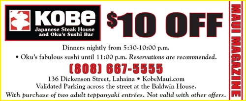 Kobe japanese steakhouse coupons
