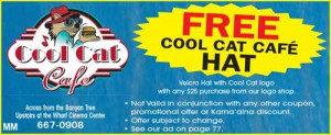 Free Cool Cat Cafe Hat