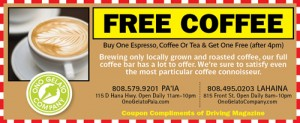 Free Coffee on Maui