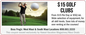 Boss Frog's Maui Coupon