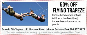 Emerald City Trapeze Maui Coupon