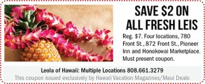 Leola of Hawaii Maui Coupon